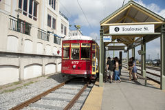 Train stop in new orleans Royalty Free Stock Photography