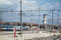 Train Stop Railway Station Platform Network Royalty Free Stock Image