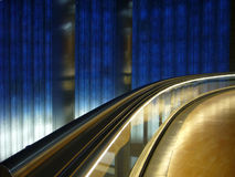 Train stop station. Tecnologic subway in Madrid city royalty free stock photography