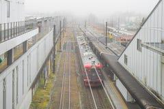 Train stopped at Karuizawa Railway station Royalty Free Stock Photo