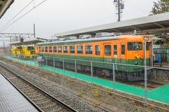 Train stopped at Karuizawa Railway station Stock Photos