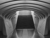 Train stration in Liege Belgium,black and white Royalty Free Stock Photos
