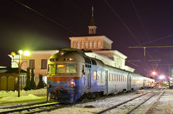 Train suburbain diesel Images libres de droits