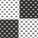 Train or Subway Station Seamless Pattern Set Stock Photography