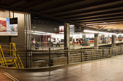 Train and Subway tracks inside of Grand Central Station Stock Image