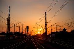 Train sundown Royalty Free Stock Images