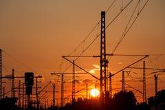 Train sundown Stock Photography