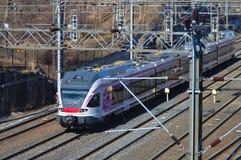 Train sur le chemin de fer Photographie stock