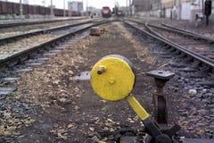 Train switch stock photo