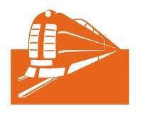 Train symbol. Closeup of train symbol on white background Royalty Free Stock Photo