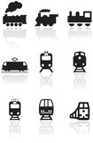 Train symbol vector illustration set. Royalty Free Stock Image
