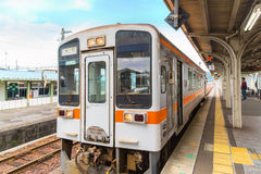 A train from Taki station to Ise city, Mie Prefecture royalty free stock photography