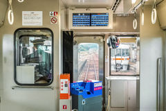 A train from Taki station to Ise City in Mie Prefecture stock photo