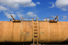 Train tanker car Royalty Free Stock Images