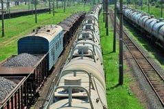 Train tanks and wagons Stock Photos