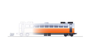 Train Technical Illustration Royalty Free Stock Photography