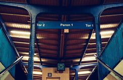 Train terminal interior Royalty Free Stock Images