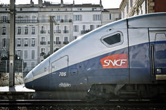 train TGV Dasye duplex de la France photo stock