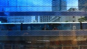 Train in Thailand, Bangkok, 1 August 2014.  stock footage
