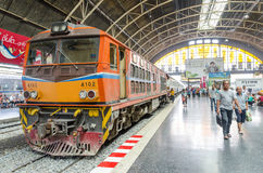 The train at Thailand center station. Royalty Free Stock Image