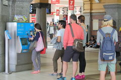 Train ticket queue Melbourne Royalty Free Stock Images