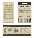 Train ticket set Stock Images