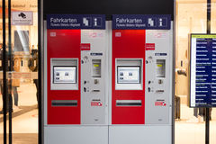 Train ticket vending machine of the german railroad company Royalty Free Stock Photos