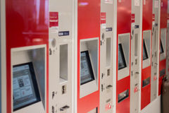 Train ticket vending machines of the german railroad company Royalty Free Stock Image
