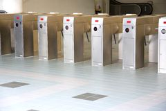 Train Ticket Verification Machine Stock Images