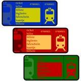 Train tickets Stock Photos