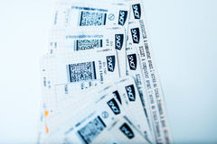 Train tickets for SNCF - Societe nationale des chemins de fer fr Stock Photos