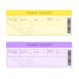 Train Tickets in Two Color Versions Royalty Free Stock Photos