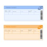 Train Tickets in Two Versions Royalty Free Stock Photography