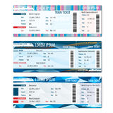 Train tickets vector set Stock Images