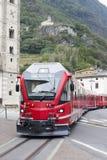 Train in Tirano city, Italy. Stock Image