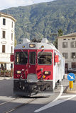 Train in Tirano city, Italy. Stock Photography