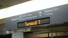 Train to airport display, Stock Photos