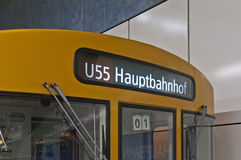 Train to Hauptbahnhof at Berlin, Germany Royalty Free Stock Photography