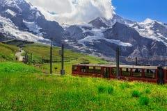Train to Jungfraujoch - Kleine Scheidegg Royalty Free Stock Photography