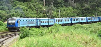 Train to kandy from colombo Royalty Free Stock Image