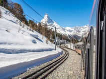 Train to Matterhorn Stock Images
