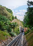 Train to Penang Hill in Malaysia Royalty Free Stock Images
