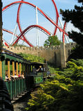 Train to rollercoaster Royalty Free Stock Image