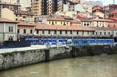 Train to San Sebastian in Bilbao. Stock Photo