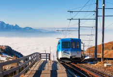 Train to the top of Rigi kulm Royalty Free Stock Photos