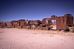 Train to Uyuni Royalty Free Stock Images