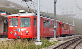 Train on the top of Mt. Rigi Royalty Free Stock Photography