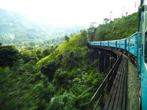 Train tour with ella sri lanka. This is image is train tour royalty free stock image
