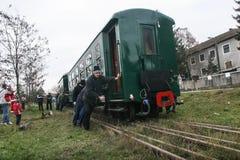 Train touristique de machine à vapeur Images libres de droits