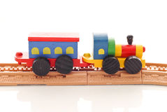 Train Toy. On Plastic Track stock images